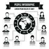 Concepto infographic de la gente, estilo simple ilustración del vector