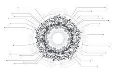 Concepto infographic de la tecnología del diseño y de los datos de Digitaces libre illustration