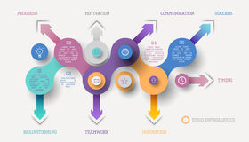 Concepto infographic del círculo libre illustration