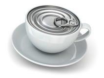 Concepto inmediato del coffe. Taza y casquillo de la poder. Imágenes de archivo libres de regalías