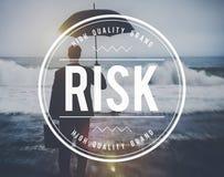 Concepto inseguro de la oportunidad del pronóstico de la gestión de riesgos imagen de archivo libre de regalías