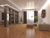 Concepto interior blanco para la sala de estar Fotos de archivo libres de regalías