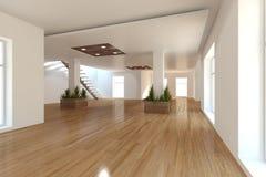 Concepto interior blanco para la sala de estar Fotografía de archivo libre de regalías