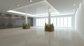 Concepto interior blanco para la sala de estar Imagen de archivo libre de regalías