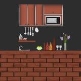Concepto interior de la cocina, fondo del ejemplo Fotografía de archivo libre de regalías
