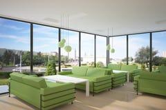 Concepto interior verde Foto de archivo libre de regalías