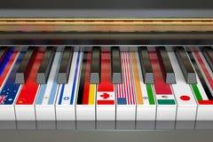 Concepto internacional de la competencia de música Imágenes de archivo libres de regalías