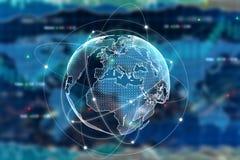 Concepto internacional del negocio ilustración del vector