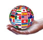 Concepto internacional del negocio global Fotos de archivo