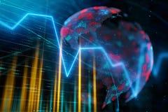 Concepto internacional del negocio y del beneficio stock de ilustración