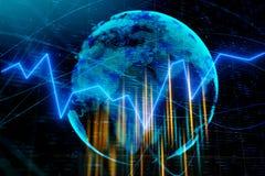 Concepto internacional del negocio y de la inversión ilustración del vector