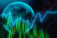 Concepto internacional del negocio y de los datos ilustración del vector