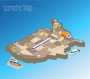 Concepto isométrico de América del mapa Imagen de archivo