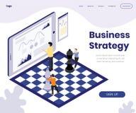 Concepto isométrico de las ilustraciones del desarrollo de la estrategia empresarial libre illustration