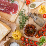 Concepto italiano de la cocina Imagen de archivo