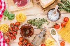 Concepto italiano del alimento Imagen de archivo