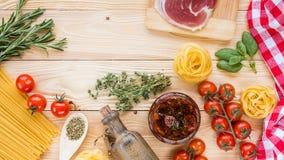 Concepto italiano del alimento Fotografía de archivo
