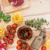 Concepto italiano del alimento Foto de archivo libre de regalías
