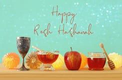 Concepto judío del día de fiesta del Año Nuevo del hashanah de Rosh Símbolo del raditional de la granada Fotografía de archivo libre de regalías