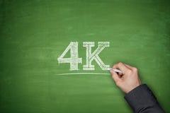 concepto 4K en la pizarra Fotografía de archivo libre de regalías