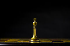 Concepto, líder y éxito del negocio del ajedrez Fotos de archivo