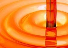 Concepto líquido anaranjado imagen de archivo libre de regalías