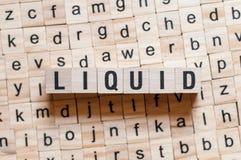 Concepto líquido de la palabra fotografía de archivo