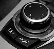 Concepto largo de las horas del trabajo del balance de la vida del trabajo Foto de archivo libre de regalías