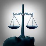 Concepto legal de la deshonestidad ilustración del vector