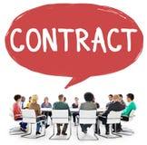 Concepto legal del trato de la sociedad del empleo del contrato Imagen de archivo