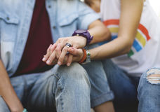 Concepto lesbiano de la felicidad de los momentos de los pares de LGBT Fotografía de archivo