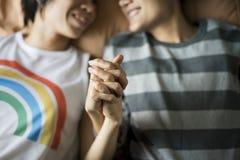 Concepto lesbiano de la felicidad de los momentos de los pares de LGBT Fotos de archivo