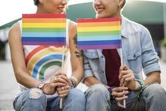Concepto lesbiano de la felicidad de los momentos de los pares de LGBT Foto de archivo