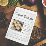 Concepto libre de la enfermedad celiaca de Glutein fotografía de archivo