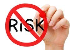 Concepto libre de la muestra de la prohibición del riesgo Imagen de archivo