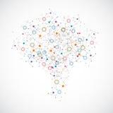 Concepto ligero creativo del cerebro humano Foto de archivo libre de regalías