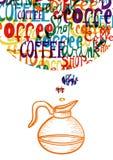 Concepto lindo del social del café del vintage libre illustration