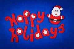 Concepto lindo, letras decorativas y juguete Papá Noel Fotos de archivo libres de regalías
