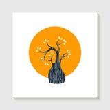 Concepto lindo simple del ejemplo de la forma del árbol stock de ilustración