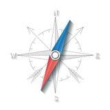 Concepto linear del compás del vector Fotos de archivo libres de regalías
