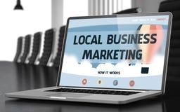 Concepto local del márketing de negocio en la pantalla del ordenador portátil 3d Foto de archivo