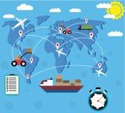 Concepto logístico de la entrega Imagen de archivo libre de regalías