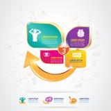 Concepto Logo Gold Kids del calcio y de la vitamina de Omega de los niños Fotografía de archivo libre de regalías