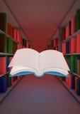 Concepto mágico de la biblioteca Foto de archivo