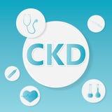 Concepto médico crónico de la enfermedad de riñón de la CKD ilustración del vector