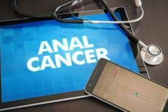 Concepto médico de la diagnosis anal del cáncer (tipo del cáncer) en el sc de la tableta Fotos de archivo