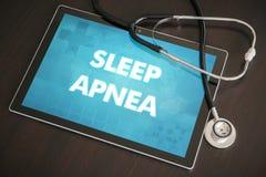 Concepto médico de la diagnosis del apnea de sueño (desorden neurológico) encendido foto de archivo