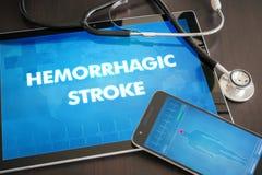 Concepto médico de la diagnosis hemorrágica del movimiento (desorden de corazón) encendido fotos de archivo libres de regalías