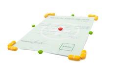Concepto médico de la prescripción aislado en blanco Foto de archivo