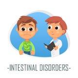Concepto médico de los desordenes intestinales Ilustración del vector stock de ilustración
